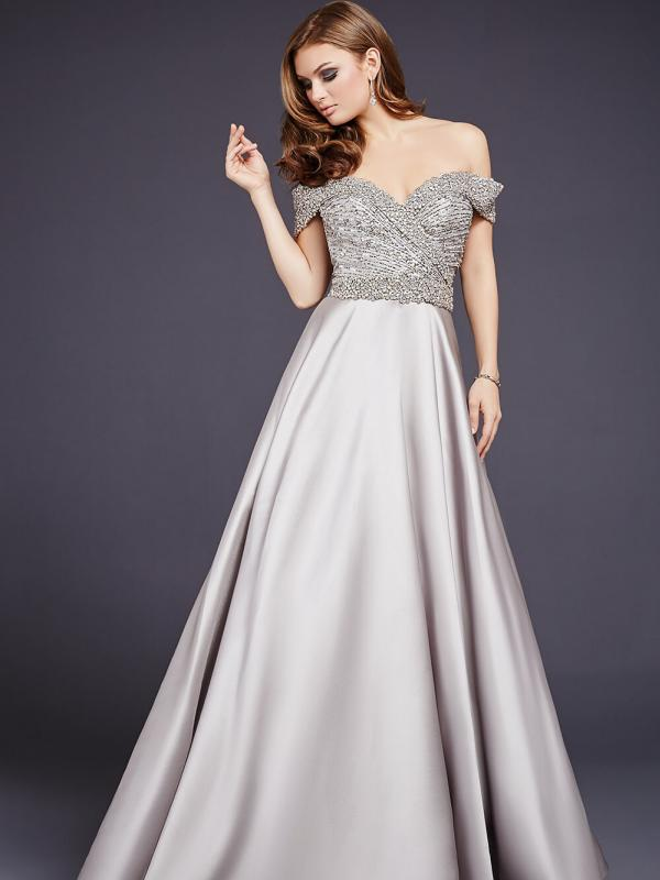 Elegant Off the Shoulder Ball Gown
