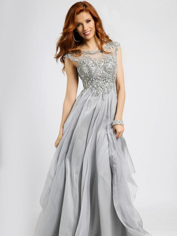 Silver Empire Waist Dress