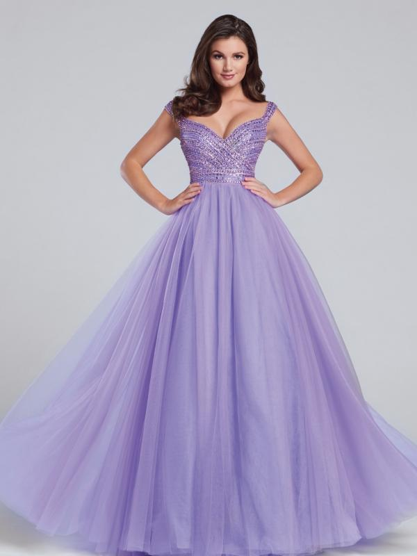 Lavender Tulle Ball Gown