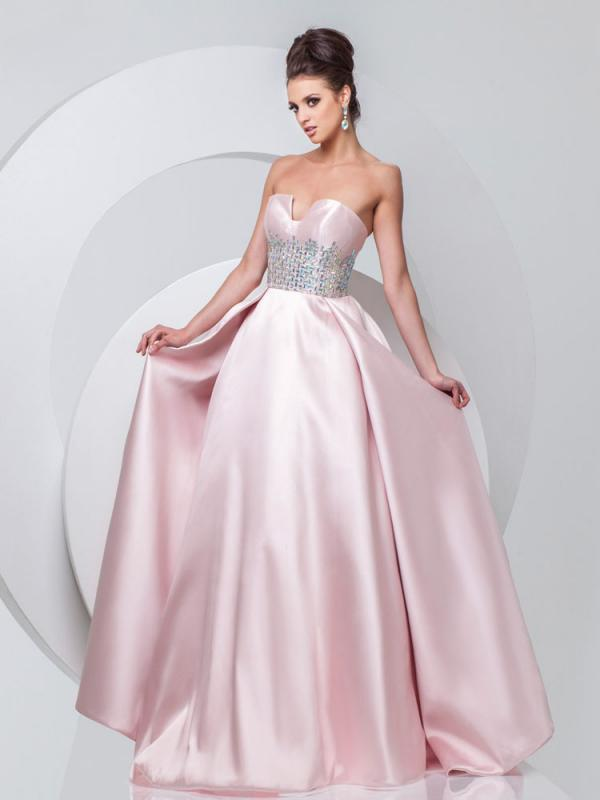 Dazzling Strapless A-line Dress
