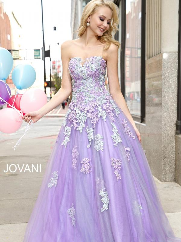 Romantic Lilac Purple Tulle Ball Gown