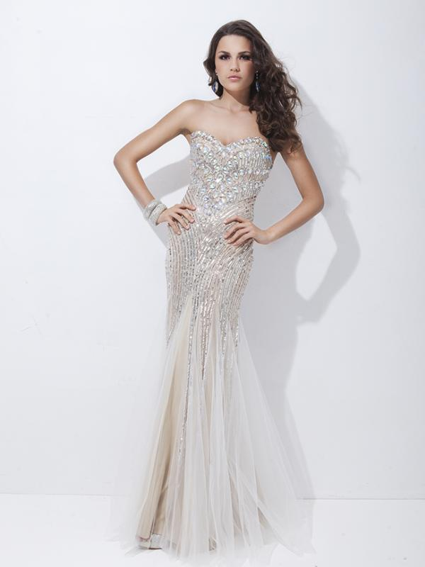 Strapless Evening Mermaid Gown