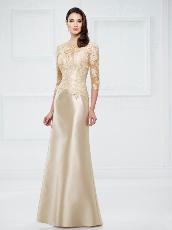 Mother of the Bride Lace Trumpet Gown