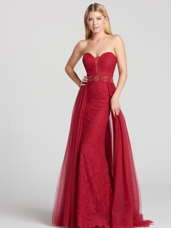 Radiance Lace Cascade Evening Dress